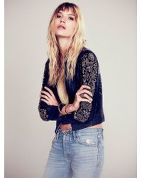 Free People Razzle Dazzle Leather Jacket - Lyst
