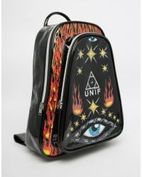 UNIF - Notion Backpack With Eye And Fire Print - Lyst