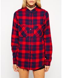 Asos Shirt in Brushed Check - Lyst