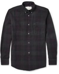 Our Legacy Overdyed Check Cotton Shirt - Lyst