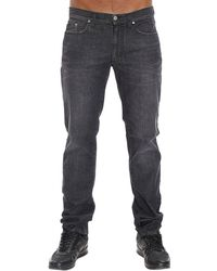 Versace Jeans Denim Used Stretch gray - Lyst