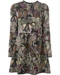 Valentino Butterfly Jacquard Dress - Lyst