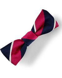 Ralph Lauren - Striped Bow Hair Clip - Lyst