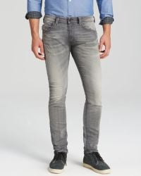 Diesel Jeans Thavar Jogg Slim Fit in Grey - Lyst