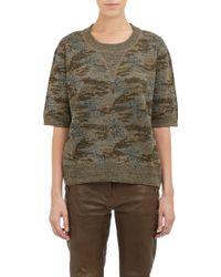 Isabel Marant Metallic Camo Watson Sweater - Lyst