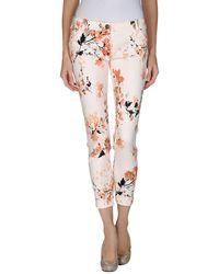 Elisabetta Franchi Floral Casual Pants - Lyst