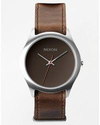 Nixon Mod Brown Leather Strap Watch A428 400 - Lyst
