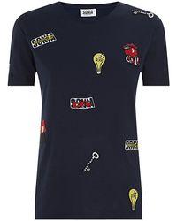 Sonia By Sonia Rykiel Logo Patch T-Shirt - Lyst
