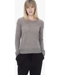 James Perse Cashmere Loose Gauze Crew Neck - Lyst