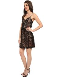 Nanette Lepore Black Venetian Dress - Lyst