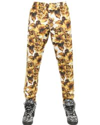 Jeremy Scott for Adidas Gold Flower Print Acetate Track Pants - Lyst