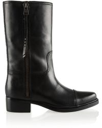 Coach Leather Boots - Lyst