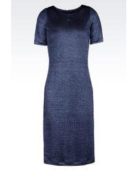 Emporio Armani Dress In Viscose - Lyst