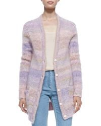 Michael Kors Long Shaker-knit Cardigan - Lyst
