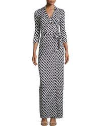 Diane von Furstenberg Abigail Silk Jersey Maxi Wrap Dress - Lyst