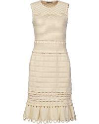 Alexander McQueen White Knee-length Dress - Lyst