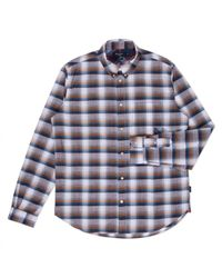 Paul Smith Orange Madras Check Shirt - Lyst