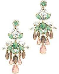 J.Crew Crystal Cascade Earrings - Lyst