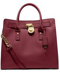 Michael by Michael Kors Hamilton Large Leather Tote Bag - Lyst