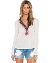 Twelfth Street Cynthia Vincent Embroidered Top white - Lyst