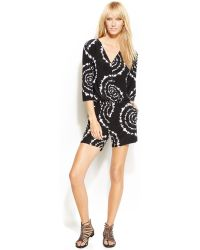 INC International Concepts - Petite Three-Quarter-Sleeve Tie-Dye Print Romper - Lyst