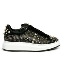 Alexander McQueen | Union Jack Stud Platform Leather Sneakers | Lyst