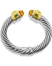 David Yurman Renaissance Bracelet with Citrine Peridot Gold - Lyst