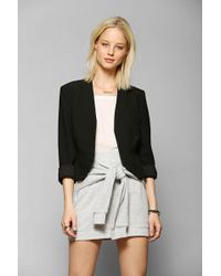 Sparkle & Fade - Kate Collarless Cropped Blazer - Lyst