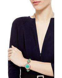 Abellan New York - A One Of A Kind Diamond, Burma Ruby, Chrysoprase And South Sea Pearl Gold/Platinum Bracelet - Lyst