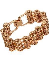 Mawi - Crystal Triple Link Bike Chain Bracelet - Lyst