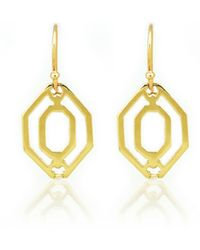Kara Ross Small Cava Open Link Earrings - Lyst