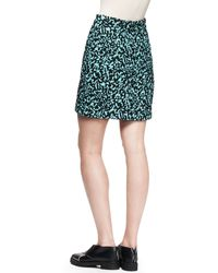 Proenza Schouler Printed Flocked Mini Skirt - Lyst