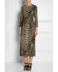 Rag & Bone Leopard-print Silk Dress - Lyst