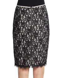 Diane Von Furstenberg Scotia Lace Pencil Skirt - Lyst