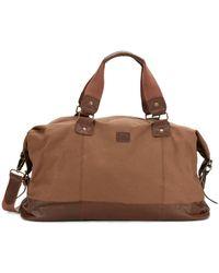 Original Penguin - Leather-Trimmed Weekender Bag - Lyst