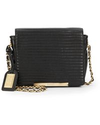 Badgley Mischka Nora Quilted Leather Mini Crossbody Bag - Lyst