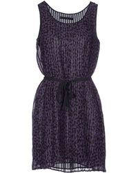 Karl Lagerfeld Short Dress purple - Lyst
