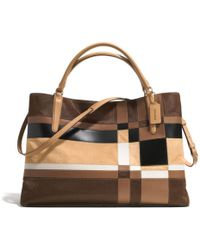 Coach The Large Soft Borough Bag in Patchwork Haircalf - Lyst