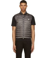 Moncler Quilted and Knit Vest - Lyst
