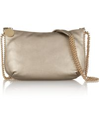 Stella McCartney Metallic Faux Leather Shoulder Bag - Lyst