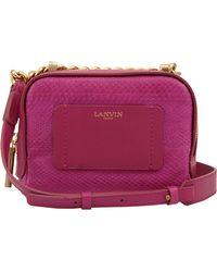 Lanvin Mini Zipped Bag - Lyst