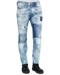 Diesel Thavar 840S Dna Distressed Jeans - Lyst