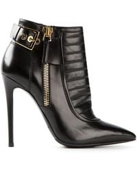 Gianmarco Lorenzi Buckled Ankle Boots - Lyst