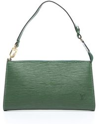 Louis Vuitton Preowned Borneo Green Epi Leather Pouchette Accessory Bag - Lyst
