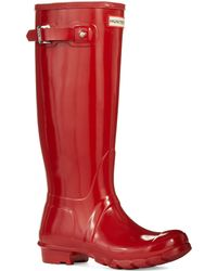 Hunter Original Gloss Tall Boots - Lyst