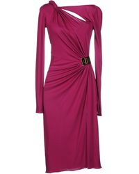 Emilio Pucci Pink Kneelength Dress - Lyst