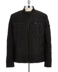 Calvin Klein Zippered Puffer Jacket - Lyst