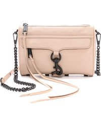 Rebecca Minkoff Mini Mac Bag Latte - Lyst