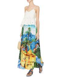 Stella Jean Printed Maxi Skirt / Strapless Dress - Lyst