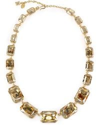 Ralph Lauren Emerald-Cut Swarovski Necklace gold - Lyst